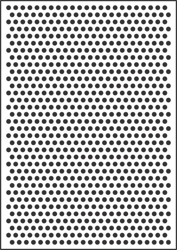 8mm polka dot template stencil for sale online