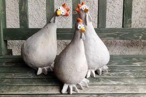 Huhn aus Beton – Mischungsverhältnis Zement   – DIY