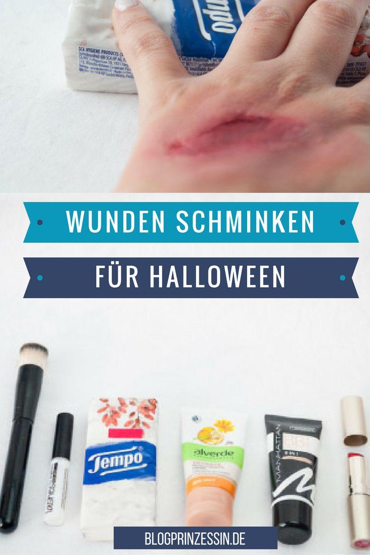 Bald ist Halloween ich zeige euch wie ihr ganz schnell überzeugende Wunden selber schminken könnt. http://blogprinzessin.de/2016/01/26/wunden-schminken-mit-taschentuechern/