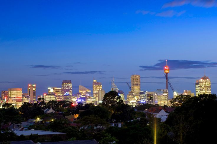 Centrepoint tower, Sydney CBD, city, dusk photography, Pilcher Residential