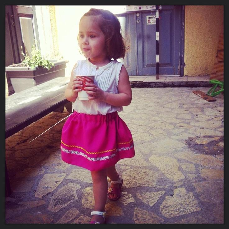 Cuty girl...cuty skirt!