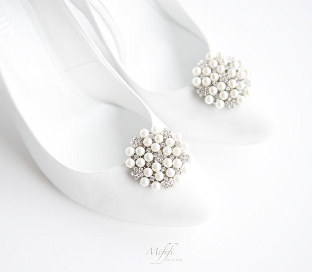 Ozdoby Ślubne z pereł -klipsy do butów Mififi - Mififi-klipsy-do-butow - Klipsy do butów