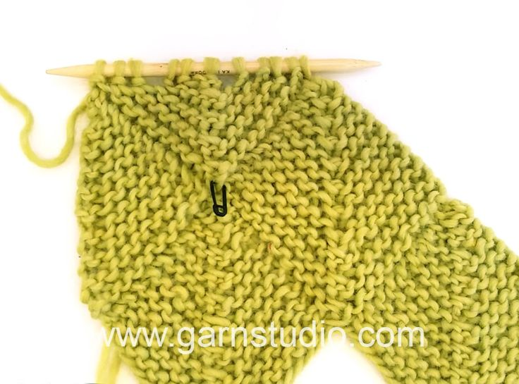 DROPS Knitting Tutorial: How to work a half domino square (horizontal).