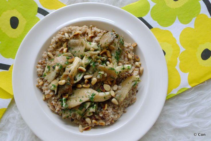 Boekweit risotto met oesterzwammen recept (vegan) ~ minder koolhydraten, maximale smaak ~ www.con-serveert.nl