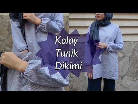 Kolu Büzgülü Kolay Tunik Dikimi - YouTube
