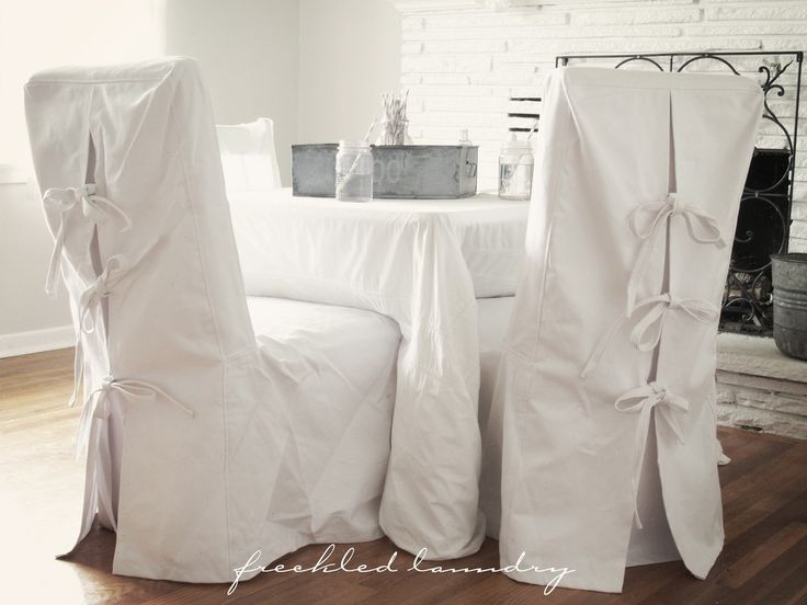 White Dining Chair Slipcovers