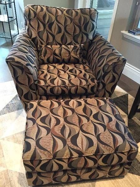 Arm Chair and Ottoman - Castanet Classifieds