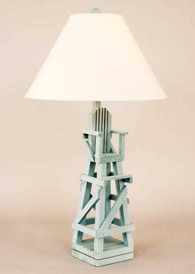 Lifeguard Chair Table Lamp in Wedgewood Blue order at www ...