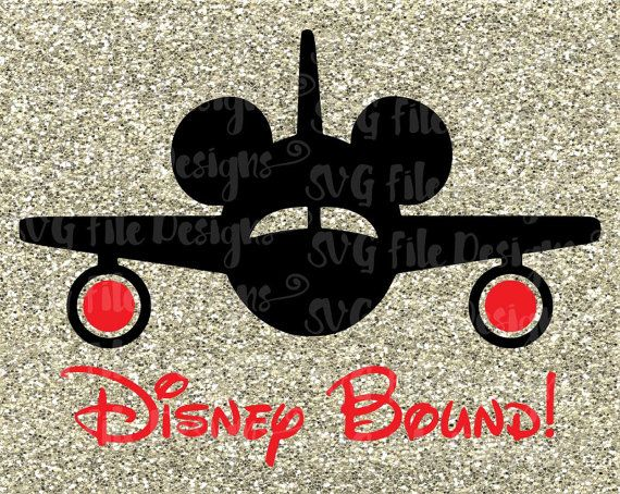Disney Bound Vacation Mickey Mouse Plane Cutting File in Svg, Eps, Dxf, and Jpeg for Cricut and Silhouette