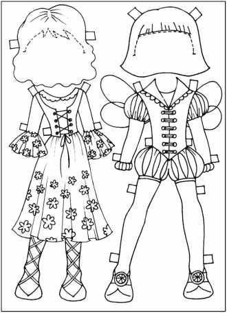 Разукрашки-вырезалки скачать и распечатать бесплатно, костюмы эльфов