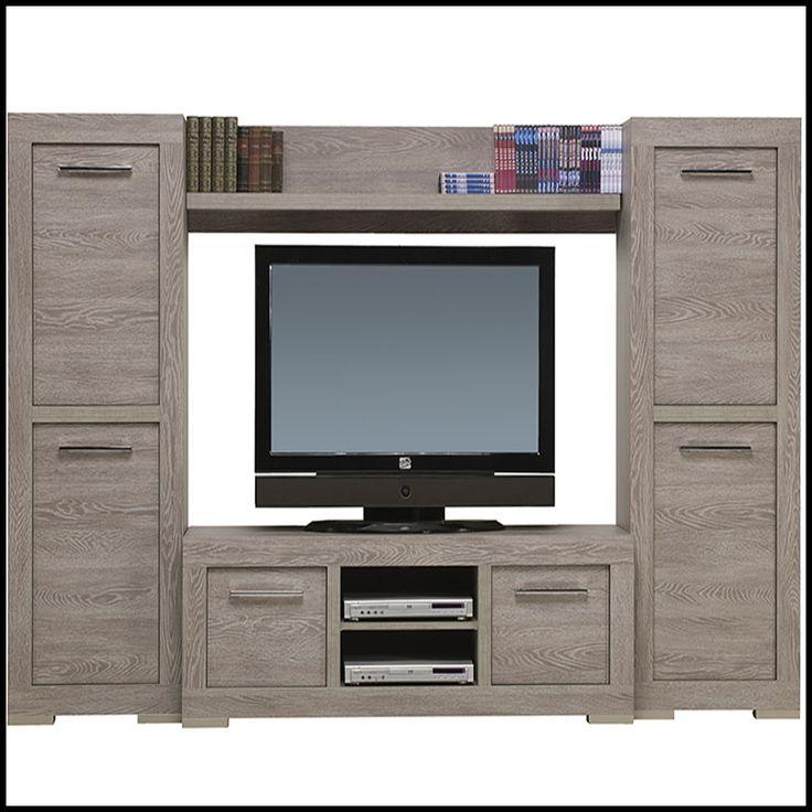 1000 images about ensemble de meubles tv on pinterest - Meuble tv couleur taupe ...