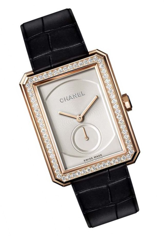 Chanel Boy.Friend Large Size Beige Gold with Diamonds