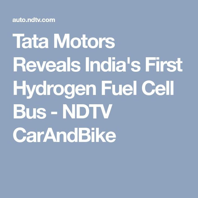Tata Motors Reveals India's First Hydrogen Fuel Cell Bus - NDTV CarAndBike