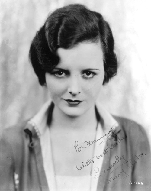 Mary Astor, 1920's. Astor was an American actress. Most remembered for her role as Brigid O'Shaughnessy in The Maltese Falcon (1941) with Humphrey Bogart, Astor began her long motion picture career as a teenager in the silent movies of the early 1920s.
