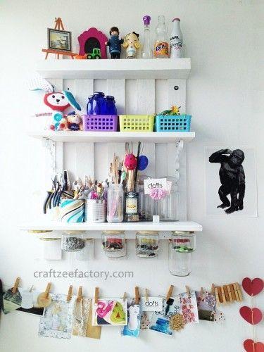 DIY wood #pallete shelf