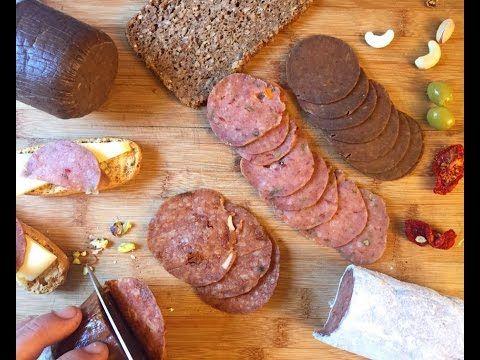 Embutidos veganos sin gluten: Salami y Salchichón primavera - YouTube