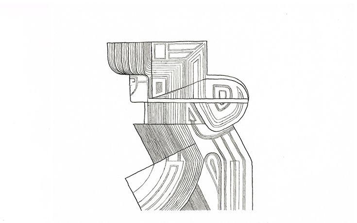 Kunstgalerie KUNSTFLIEGEREI Grafikdesign Zeichnung, abstrakte Figur