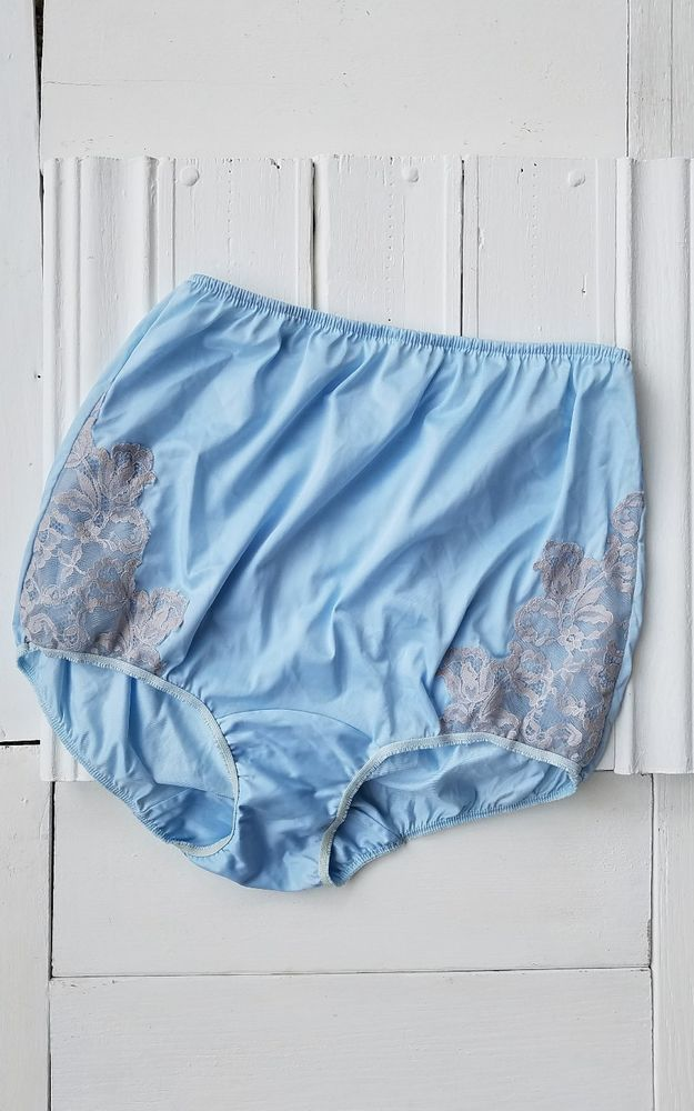 Vintage SEARS Baby Blue Silky with lace Panties Sz 7 Grannys  #Sears #Everyday