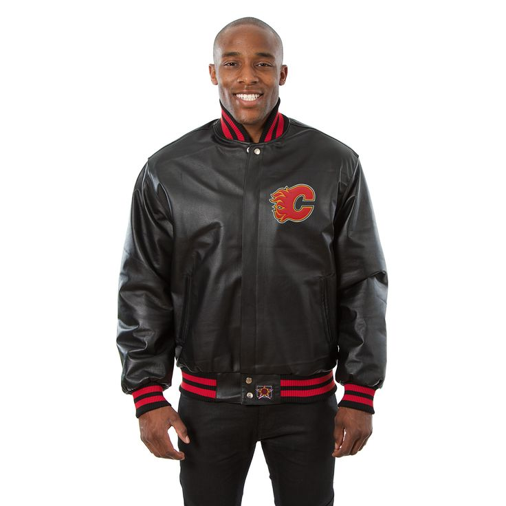 NHL Calgary Flames JH Design Jacket - Black