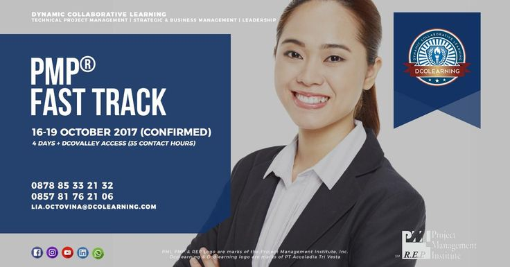 Our PMP® Fast Track program is now confirmed to be running. Join this program from 16 to 19 October 2017 and let's collaborate. Please do not hesitate to contact our team to discuss your plan and to get more information about our program.  Stay sharp! www.dcolearning.com