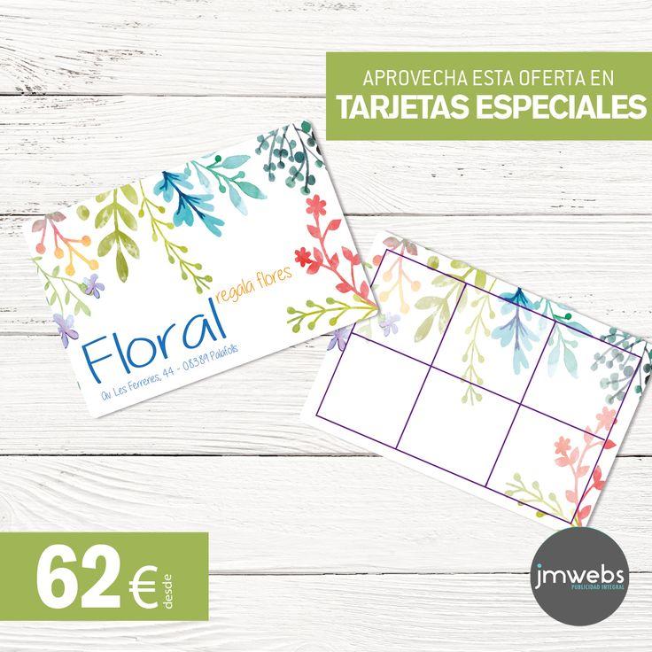 Servicios de diseño gráfico e impresión con envío incluido de tarjetas de visita especiales. Medidas y formatos personalizados y con diseño exclusivo. Precios en: www.jmwebs.net o Teléfono 935160047