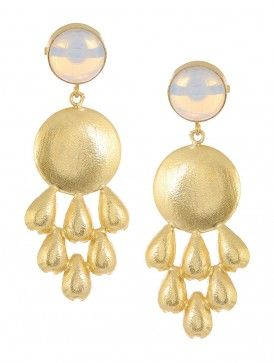 Opal Gold-plated Brass Earrings