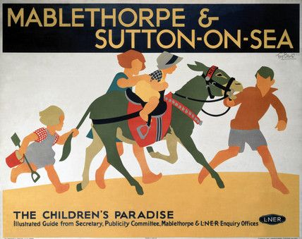 'Mablethorpe & Sutton-on-Sea', LNER poster, 1923-1947 by artist Tom Purvis