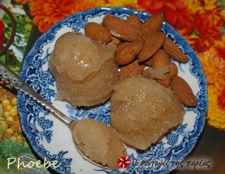 Γλυκό αμύγδαλο - Almond preserve @sintagespareas.gr
