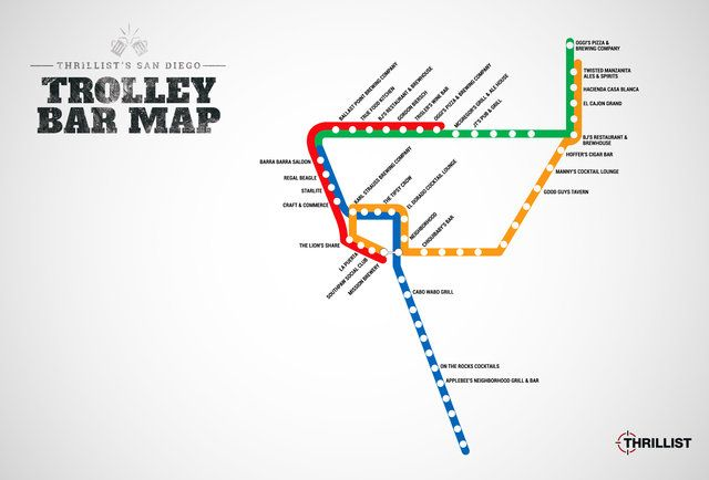 The first-ever San Diego Trolley bar map is here