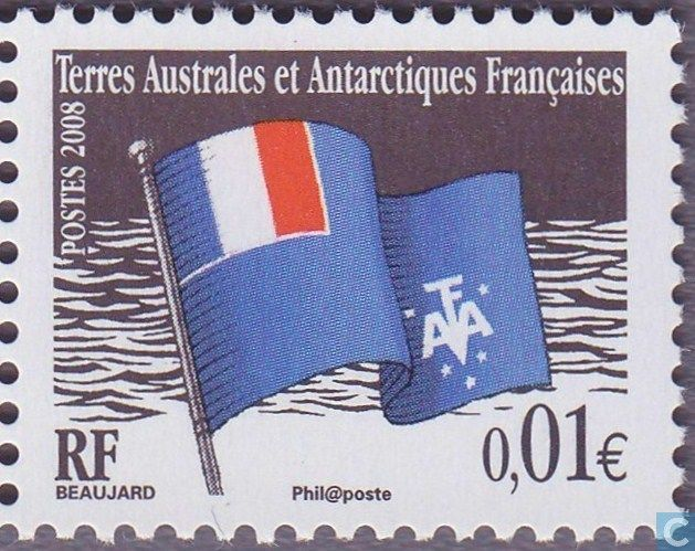 Postage Stamps - French Southern and Antarctic Lands - Flag of TAAF