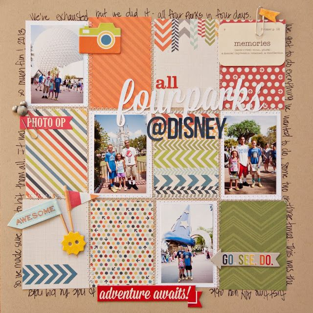 4 photos + stitching + journal cards