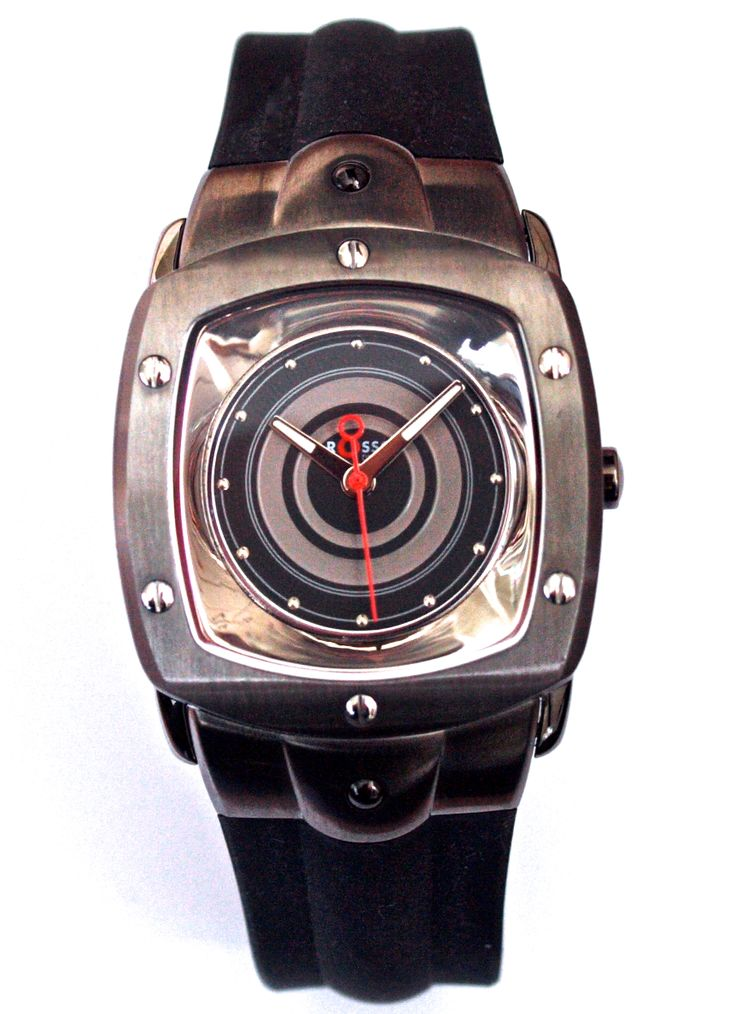 Rosso Design men's watch with curved glass and mirror dial. From €130 for €65. See more at - www.megawatchoutlet.com