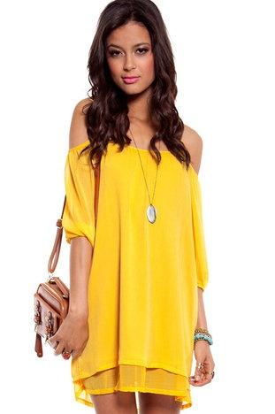 Amerie Off Shoulder Dress $36 at www.tobi.com