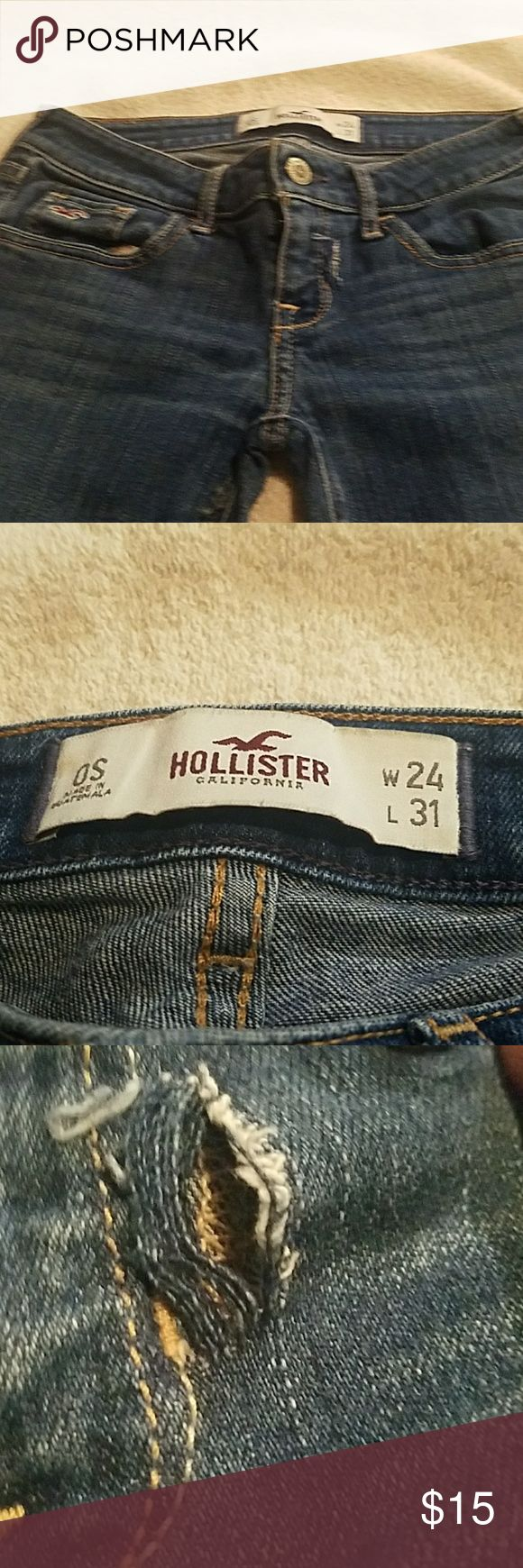 Hollister Jeans Size W24 L31 HOLLISTER  JEANS SIZE W24 L31 GENTLY WORN , PLEASE LOOK AT THE PICTURES CAREFULLY Hollister Jeans Straight Leg