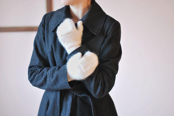 Rękawiczki ze swetra