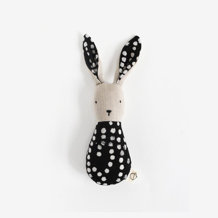 Polka Dot Bunny Rattle ---why is this so cute???