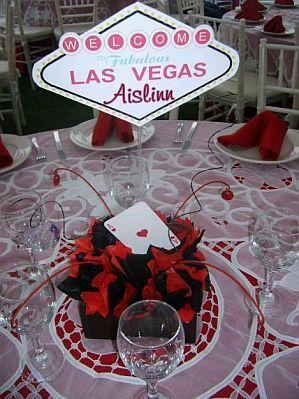 centro de mesa fiesta casino - Buscar con Google