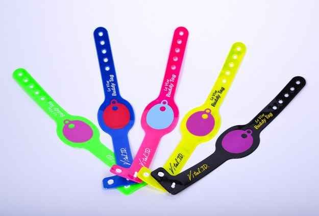 """The """"My Buddy"""" tag is a bracelet that alerts you when a child goes out of your proximity. 