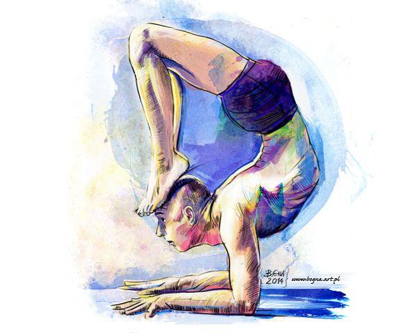 Asana Scorpio - yoga presented by Bartosz Furmaniak