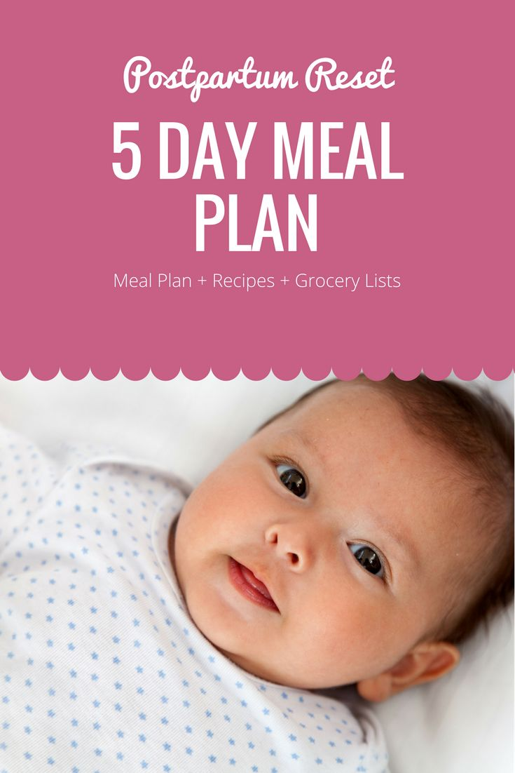 5 day meal plan to help you recover after pregnancy and child birth! Increase your energy levels and your milk supply!