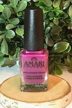 Amari NY Nail Polish - Berry. Vegan, cruelty free, halal nail polish.