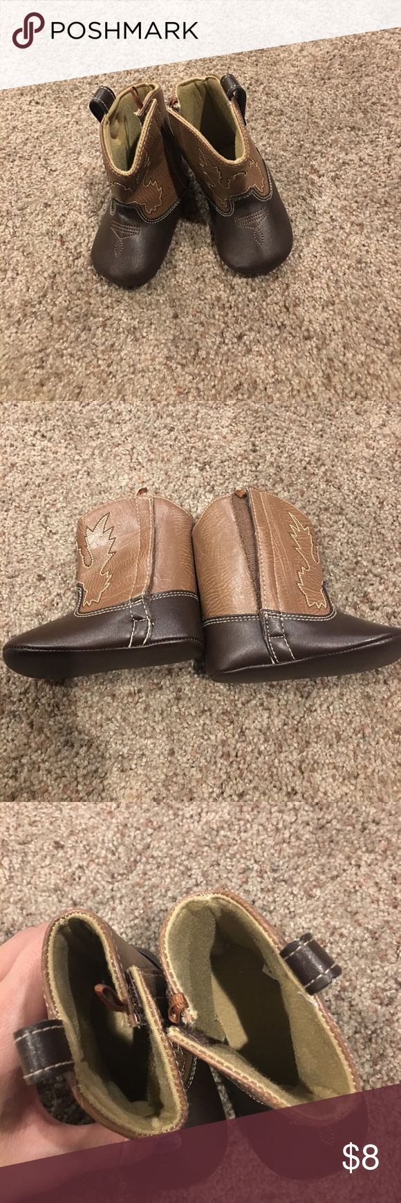 Cowboy boot slippers size 6-12 months brand new Cowboy boot slippers size 6-12 months never worn new without tags Shoes Boots
