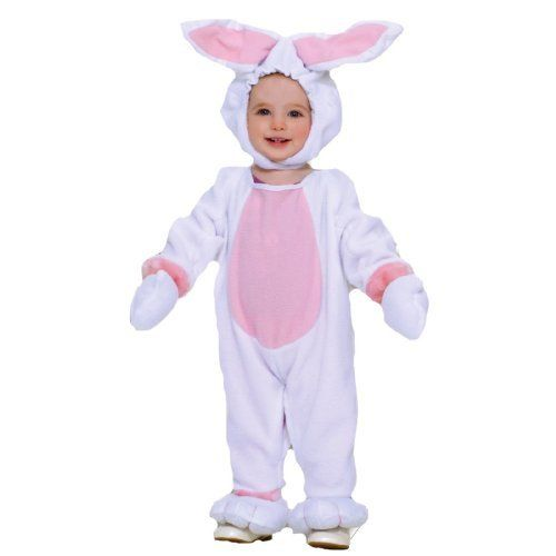 Bunny Child Costume Size Toddler by Forum Novelties. $26.55. Includes: Headpiece, jumpsuit with attached feet and hand mitts. Shoes and socks not included.