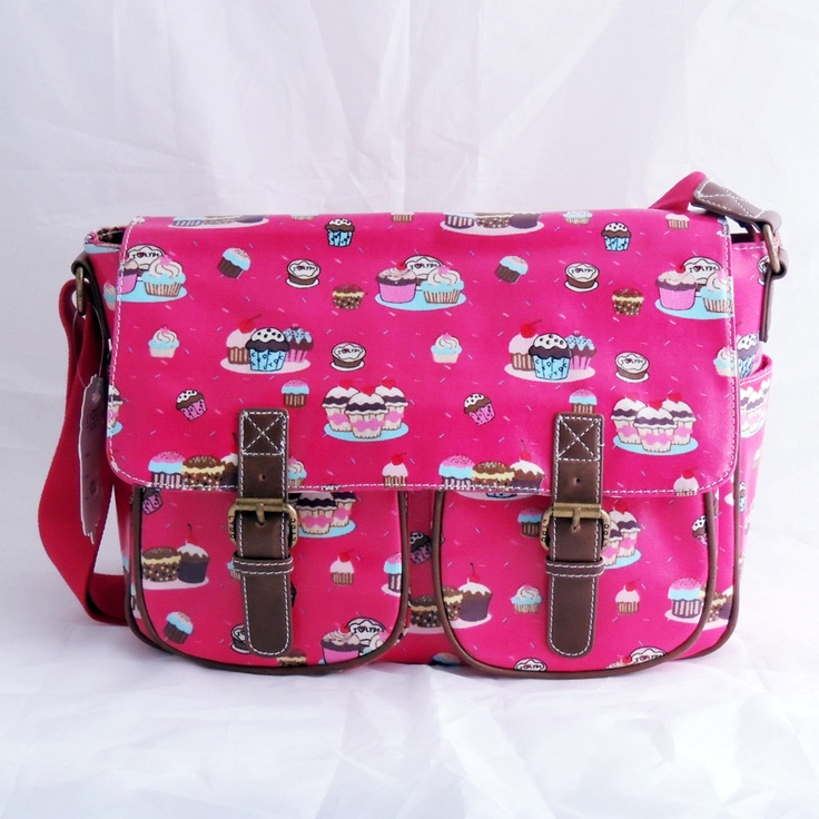 Plum cupcake print satchel £21.95 x