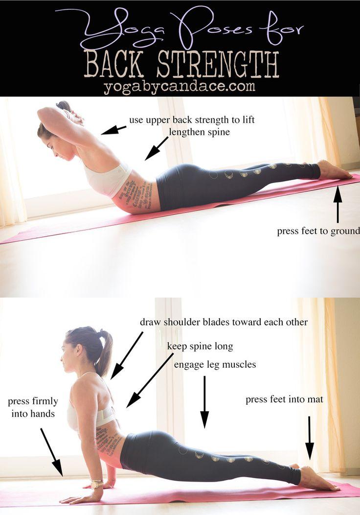 Pin it! Yoga for improving back strength. Wearing: lululemon bra, teeki moon leggings. Using: Manduka travel mat.