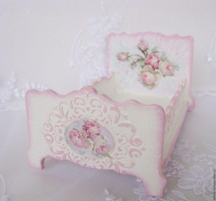 Купить Кукольная кроватка Розовые сны Кукольная мебель - кукольная мебель, мебель для кукол