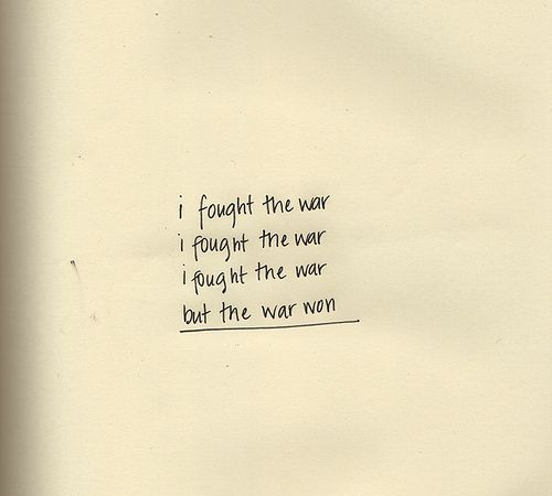 we lost before it was over; after too. //