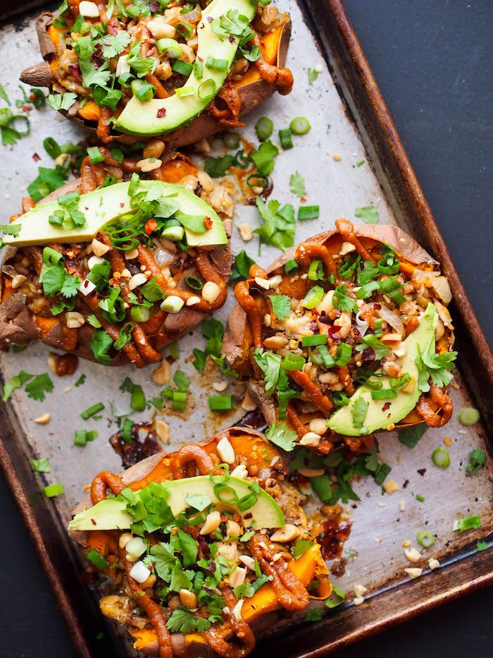 A recipe for easy vegan Thai tempeh stuffed sweet potatoes topped with the most delicious peanut sauce, plus exciting news about the launch of our online intuitive eating program! I bet you're here for one of two reasons – the news or the recipe! Maybe both? So, I won't waste your time – scroll on...Read More »