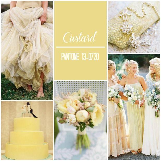 #Pantone #Color Report: #Spring 2015 #Weddings #Custard