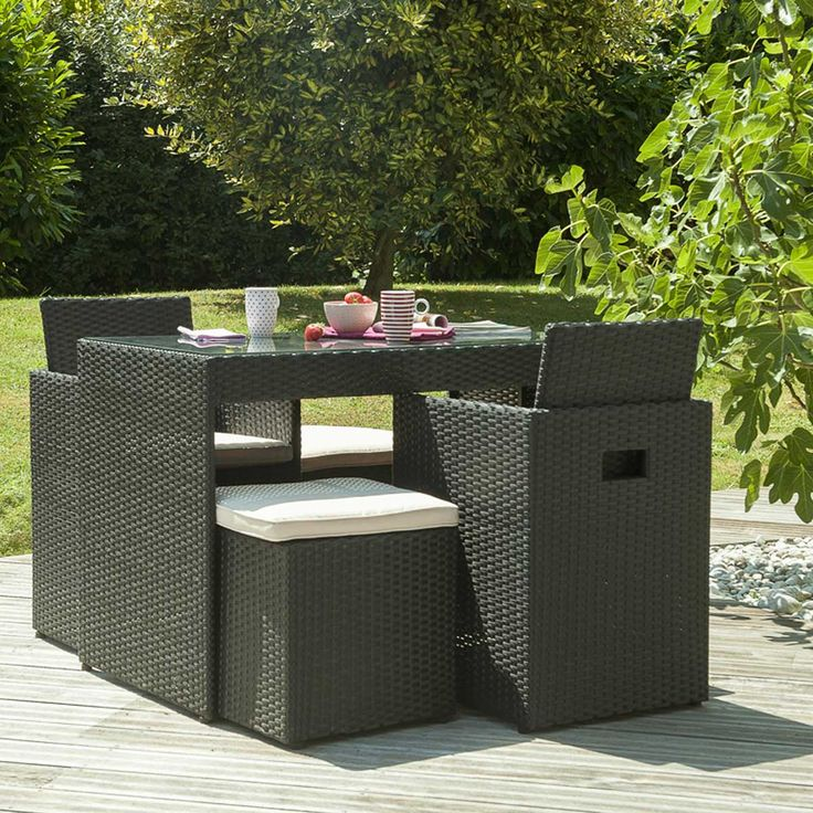 17 best images about salon de jardin encastrable on pinterest places poufs and sons. Black Bedroom Furniture Sets. Home Design Ideas